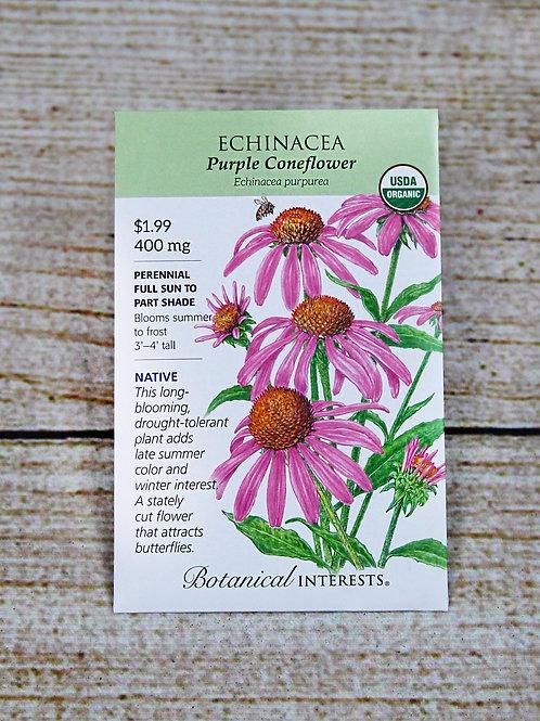Organic Echinacea - Purple Coneflower Seeds