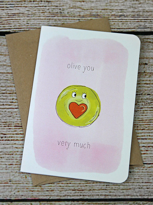 """EcoNote """"Olive You"""" Card"""