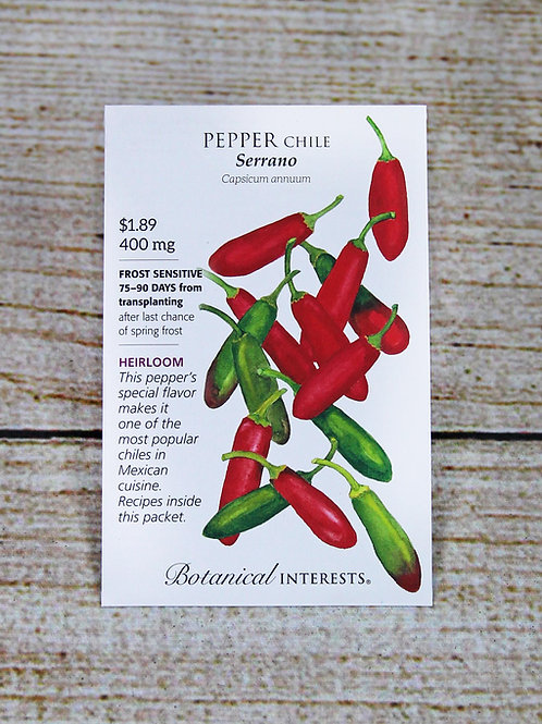 Pepper Chile - Serrano Seeds