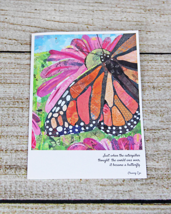 Butterfly with Quote - New Beginnings Card