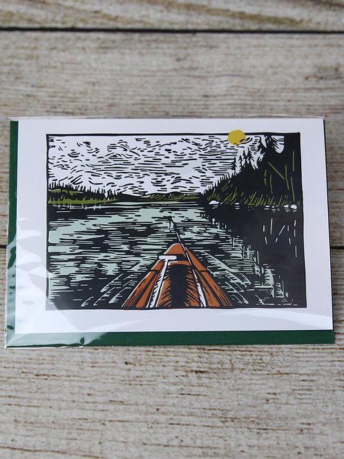 Lake Days Blank Greeting Card