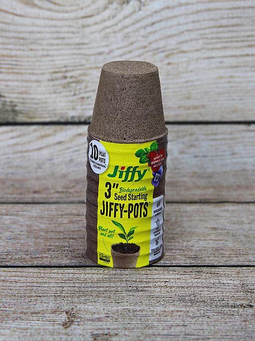 "3"" Jiffy-Pots 10ct"