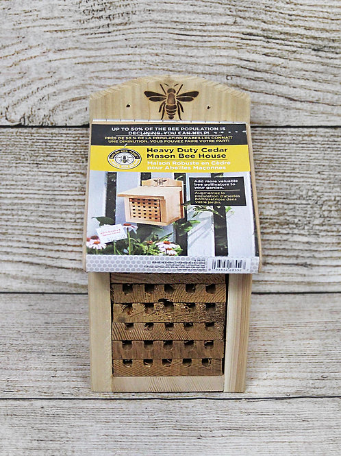 Heavy Duty Cedar Mason Bee House
