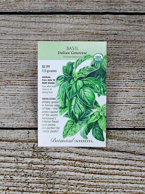 Organic Basil - Italian Genovese Seeds