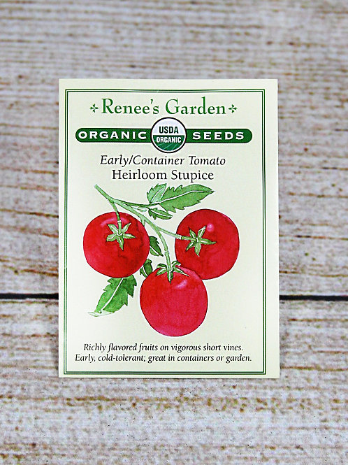Organic Early/Container Tomato - Heirloom Stupice Seeds