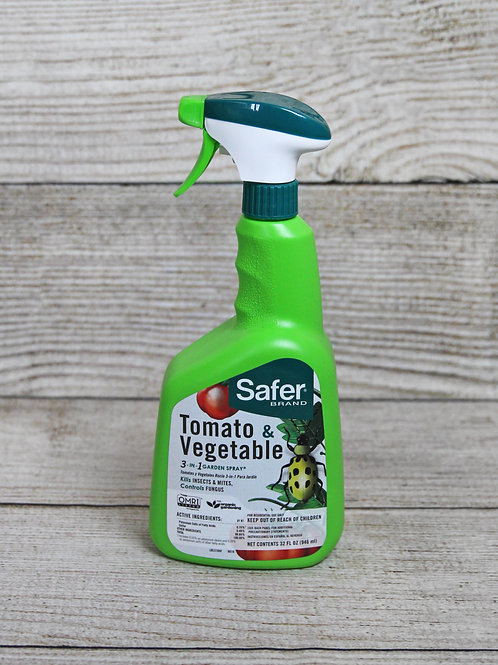 Safer Brand Tomato & Vegetable Insecticide, Miticide, Fungicide