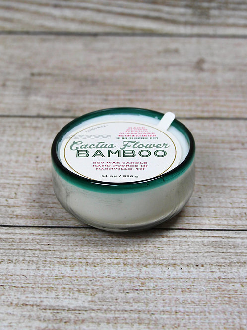 Cactus Flower Bamboo Candle
