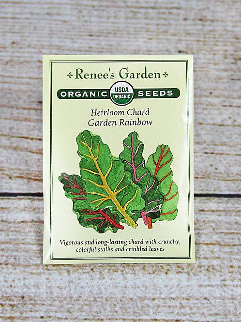 Organic Heirloom Chard Garden Rainbow Seeds