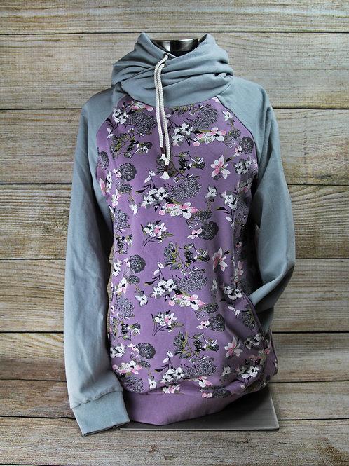 Purple Floral Hoodie