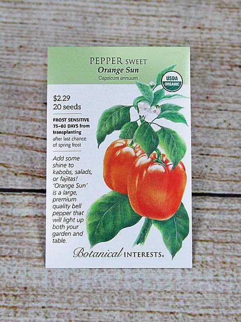 Organic Sweet Pepper - Orange Sun Seeds
