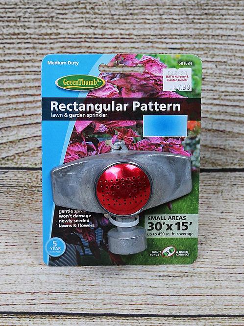 Lawn & Garden Sprinkler - Rectangular Pattern