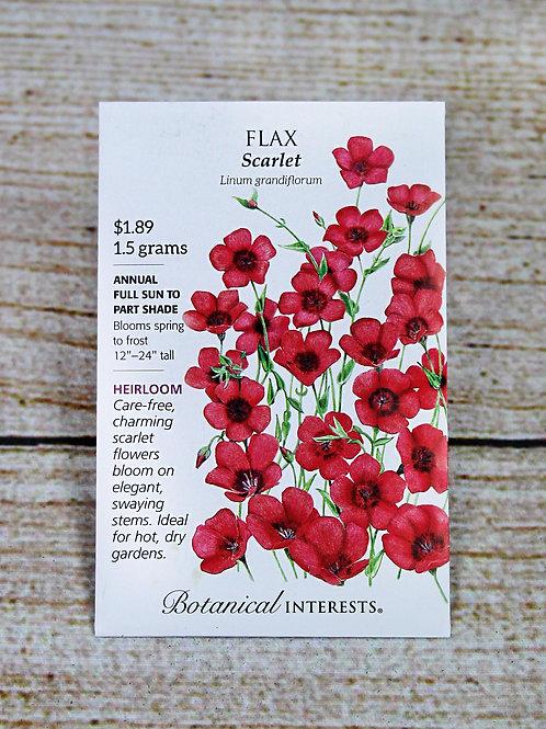 Flax - Scarlet Seeds