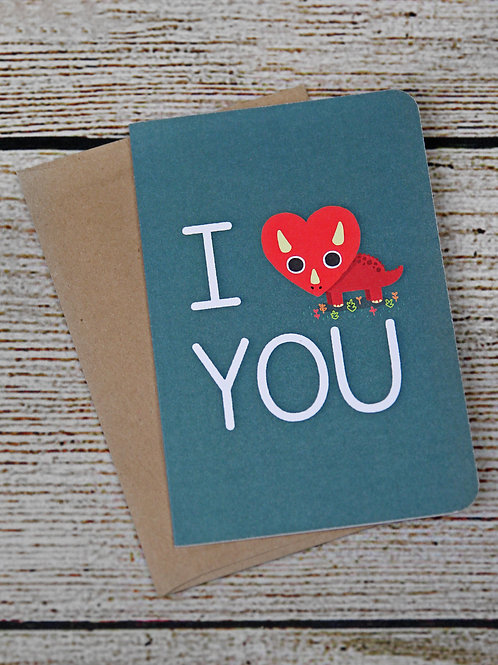 """EcoNote """"I Love You"""" Card"""