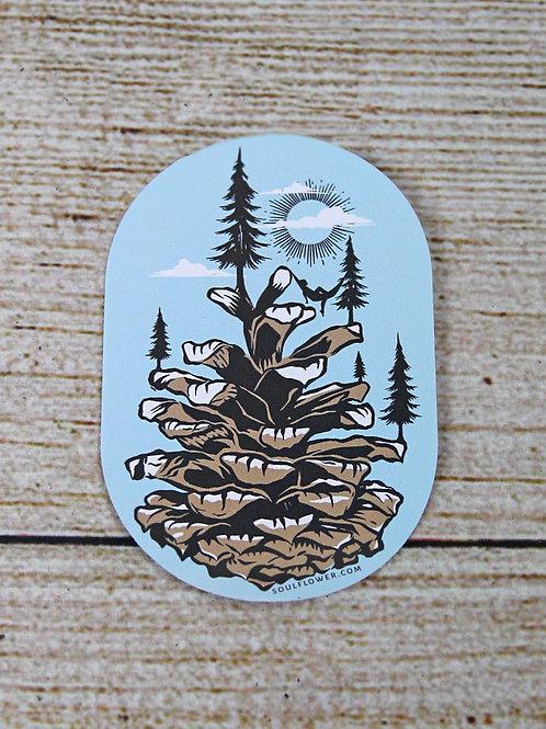 Pinecone Vinyl Sticker