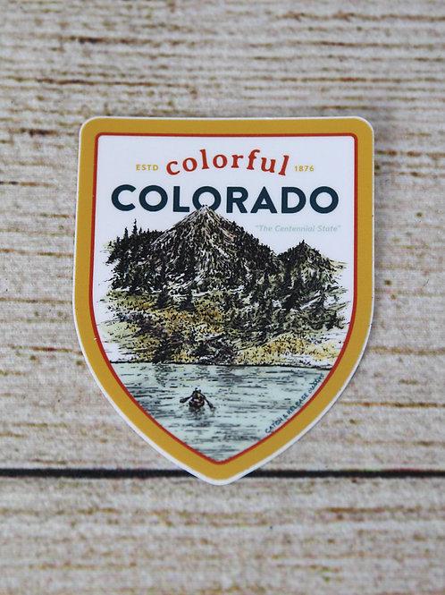 Colorful Colorado Vinyl Sticker