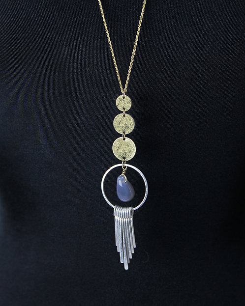 Jane Marie Gold/Silver Stone Necklace