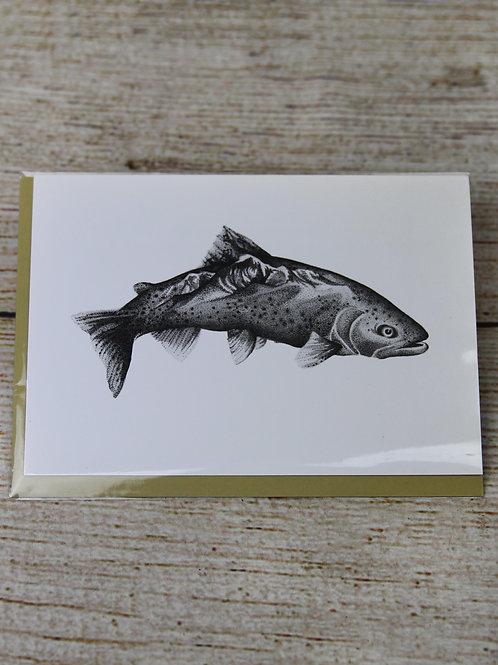 Brown Trout + Mount Princeton Blank Greeting Card