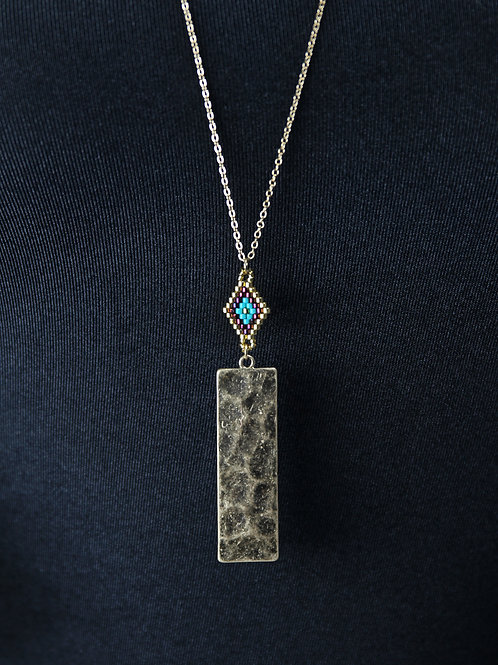 Jane Marie Gold Rectangle Necklace
