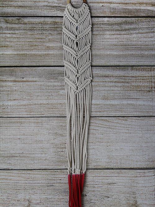 Dye Dipped Red Macrame Wall Plant Hanger