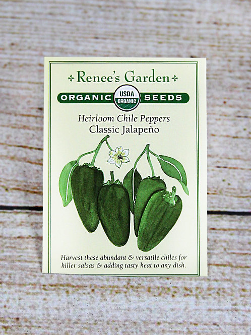 Organic Heirloom Chile Peppers - Classic Jalepeno Seeds