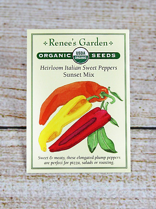 Peppers, Italian Sweet, Heirloom, Organic (Sunset Mix)