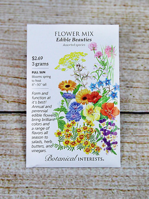 Flower Mix - Edible Beauties Seeds