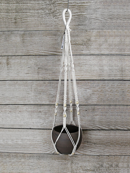 Hanging Macramé with Wooden Beads