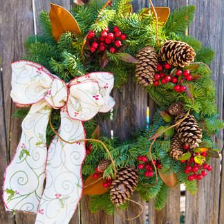 Hand-Made Holiday Wreaths