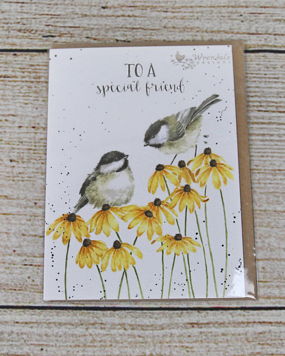 To A Special Friend - Birds and Yellow Flowers Card