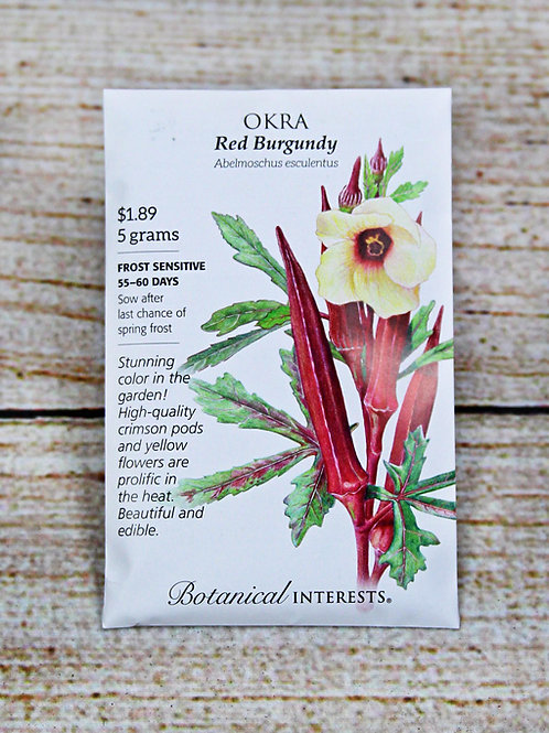 Okra - Red Burgundy Seeds