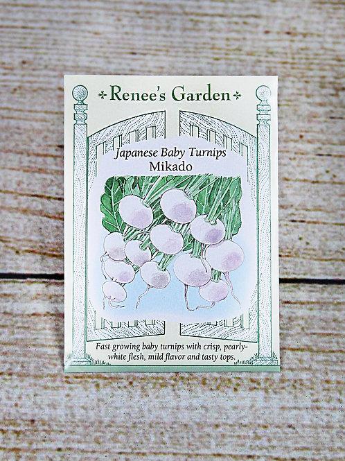 Turnips, Japanese Baby (Mikado Seeds)