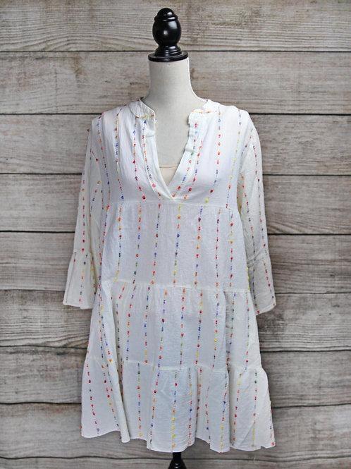 Cream Bell Sleeve Dress