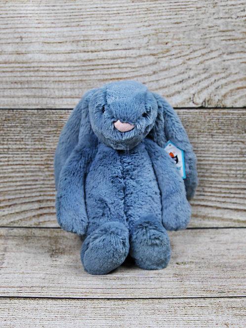 Jellycat Medium Bashful Dusky Blue Bunny
