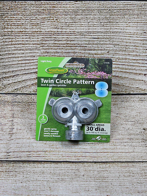 Lawn Garden Sprinkler - Twin Circle Pattern