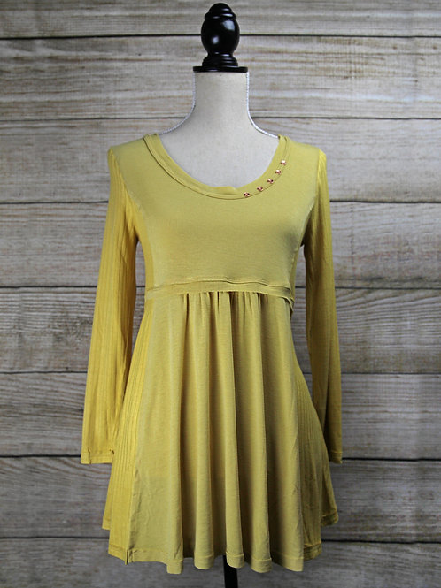 Mustard Yellow Babydoll Top