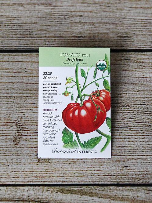 Tomato, Pole, Organic (Beefsteak)