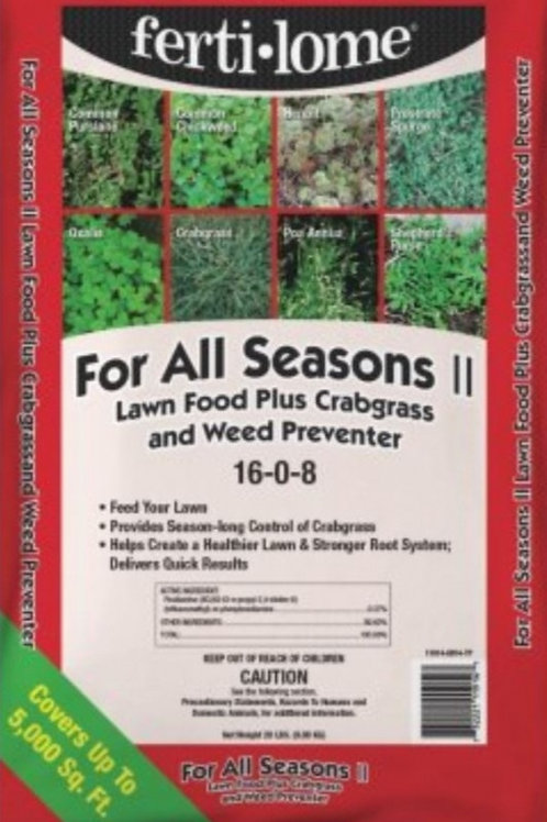 For All Seasons II Lawn Food plus Crabgrass & Weed Preventer