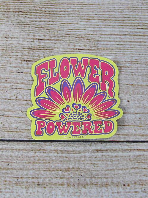 Flower Powered Vinyl Sticker