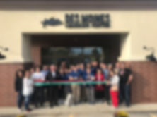 Ribbon cutting for Des Moines Learning Center, a K-12 tutoring and test prep center for Math, Reading, English, Chemistry, Physics, Biology, and ACT or SAT tutoring and test prep.