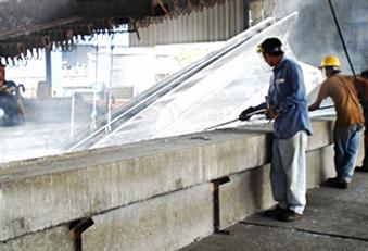 Coating of sheet piles