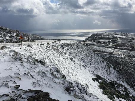 Il a neigé sur Amorgos