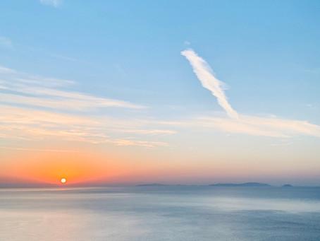 Lever de soleil sur la mer Egée