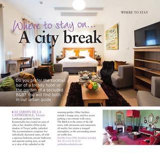 Le Jardin de la Cathédrale dans la sélection City Break du magazine anglais France Magazine