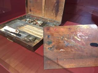 La palette de Renoir dans l'exposition qui lui est consacrée au Musée d'Art moderne de Troye