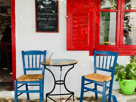 Café traditionnel à Chora