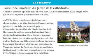 Le Jardin de la Cathédrale dans le guide du Figaro des plus belles chambres d'hôtes de France