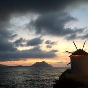 Coucher de soleil à Aegali