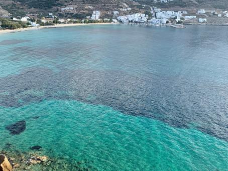 La baie d'Aegiali, Amorgos