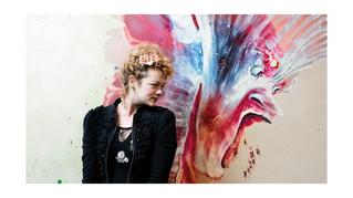 L'artiste Marlène Mocquet était au Jardin de la Cathédrale