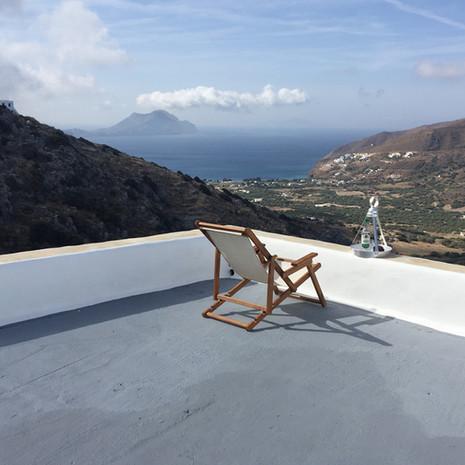La terrasse supérieure.